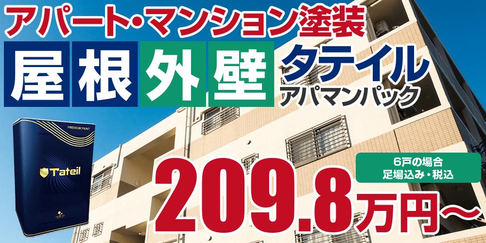 タテイルアパマンパック塗装 208.7万円