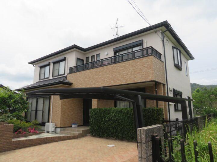 キタペン最高ランク塗料 タテイルで美しく仕上がりました。高知市横浜 h様邸 外壁塗装工事