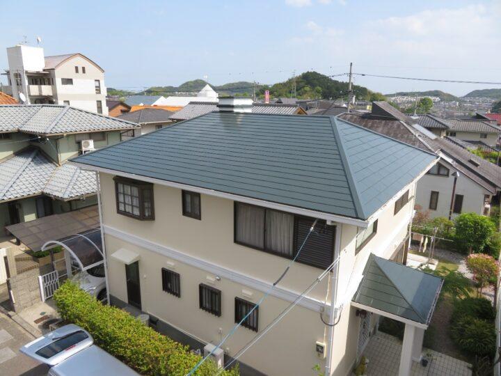 ニッペ パーフェクトシリーズで屋根外壁塗装を施工しました。高知市横浜新町 t様邸 屋根塗装 外壁塗装工事