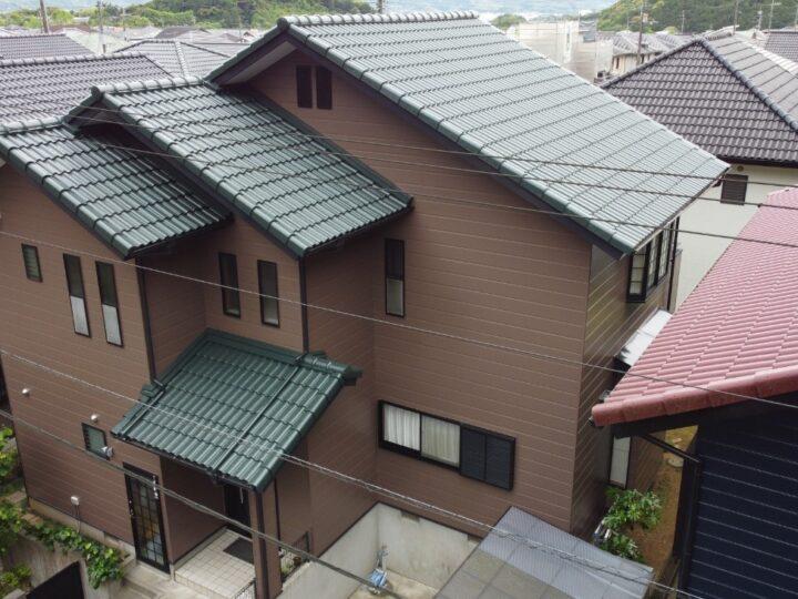 雰囲気をガラッと変えて良い仕上がりになりました 高知市みづき a様邸 屋根塗装 外壁塗装工事