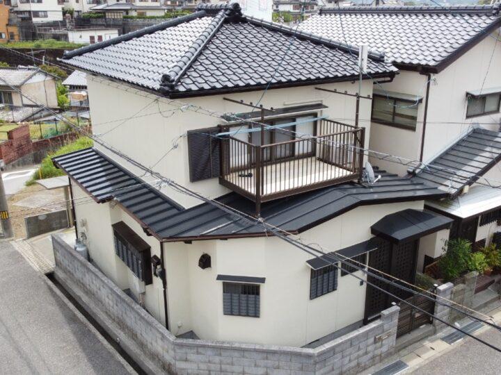 高知市塚ノ原 m様邸 屋根塗装 外壁塗装工事 日本ペイントのラジカル制御形塗料で塗装しました
