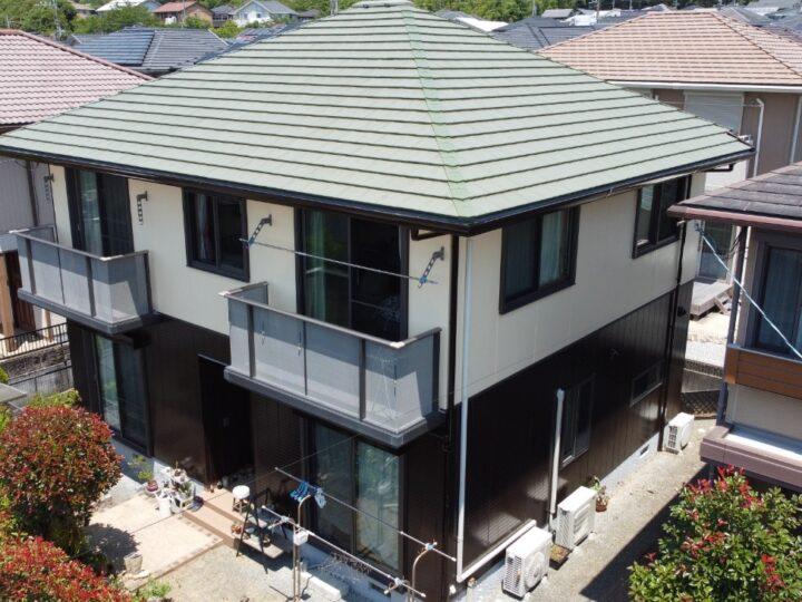 高知市春野町 s様邸 外壁塗装工事 長期に建物を保護するために、超高耐候の「有機HRC樹脂塗料 タテイル2」を使用して施工しました!