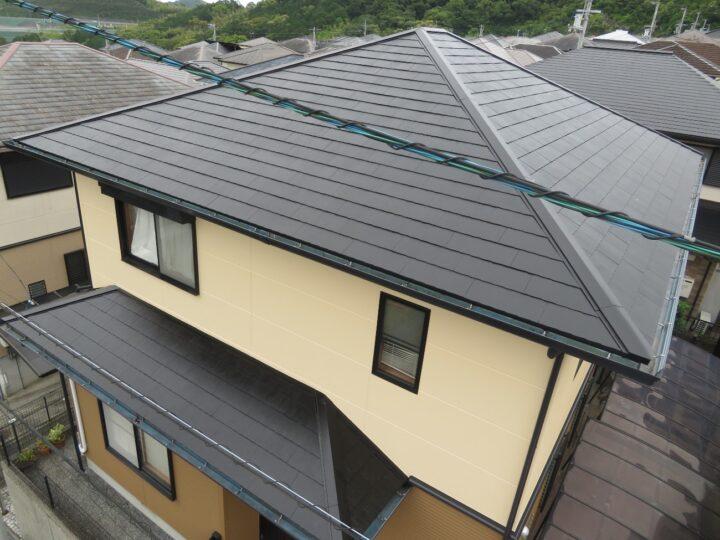 プレマテックス ラジセラproで屋根外壁を塗装しました。高知市潮見台 t様邸 屋根塗装 外壁塗装工事
