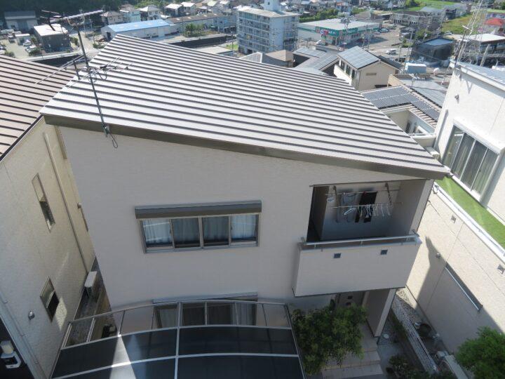 屋根を遮熱塗料で塗装しました。高知市瀬戸 y様邸 屋根塗装 外壁塗装工事