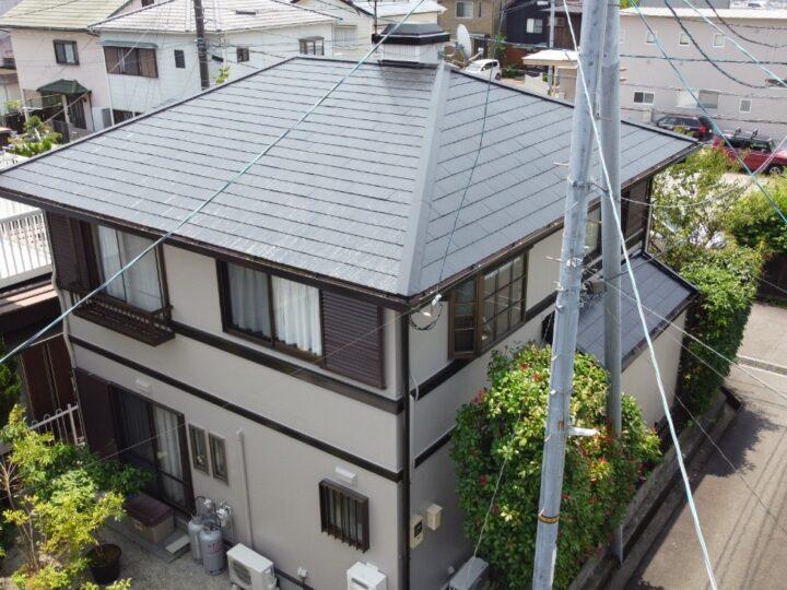 高知市大津 i様邸 屋根塗装 外壁塗装工事 有機HRC樹脂塗料 T2(タテイル2)キタペン最上級塗料で施工しました!