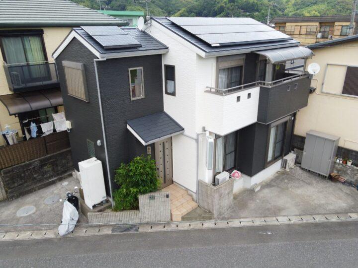 いの町 n様邸 屋根塗装 外壁塗装工事 関西ペイントの高耐久塗料「ダイナミックMUKI」シリーズで仕上げました