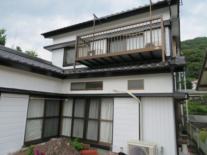 高知市吸江 h様邸 外壁塗装工事  関西ペイントのダイナミックシリーズで塗装しました