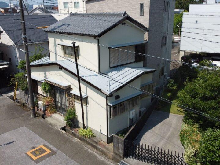 北村塗装店標準仕様の4工程で仕上げました 高知市本宮町 k様邸 屋根塗装 外壁塗装工事