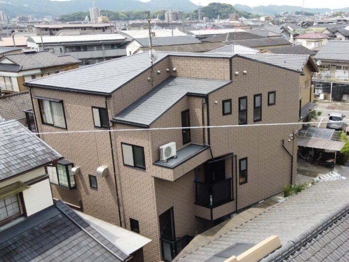 日本ペイントのラジカル制御塗料「パーフェクトシリーズ」で施工しました 高知市西久万 y様邸 屋根塗装 外壁塗装工事