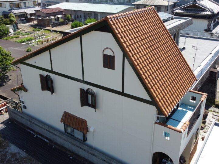 南国市 f様邸 外壁塗装工事 漆喰補修・日本ペイント ラジカル制御型塗料で仕上げました!