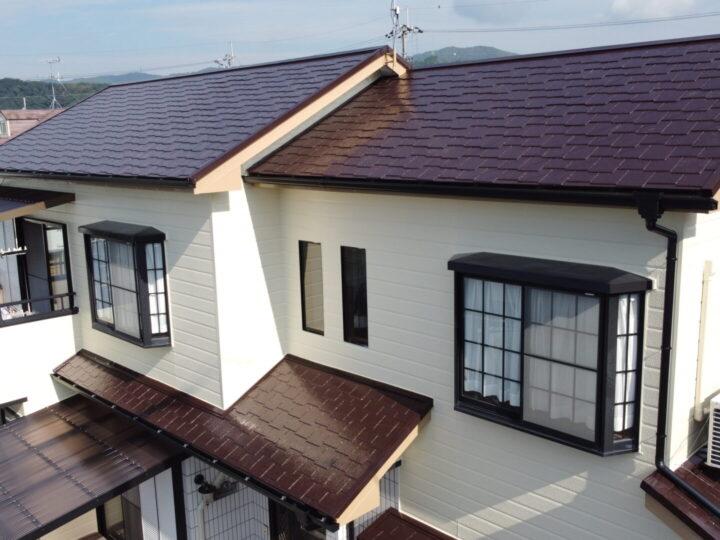 高知市大津 y様邸 屋根塗装 外壁塗装 経年劣化した雨樋やポリカ交換もご一緒に♪