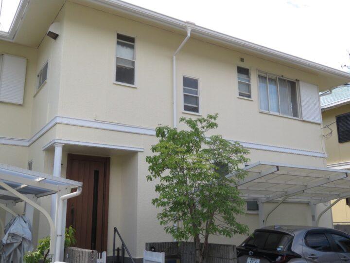 高知市横浜 n様邸 屋根塗装 外壁塗装工事 ドアリモ工事も合わせて行いました。