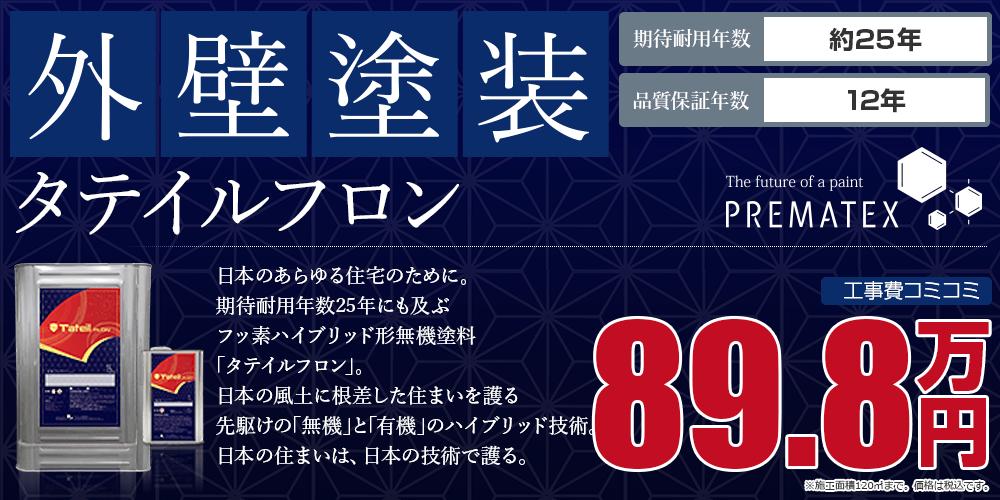タテイルフロンパック塗装 89.8万円