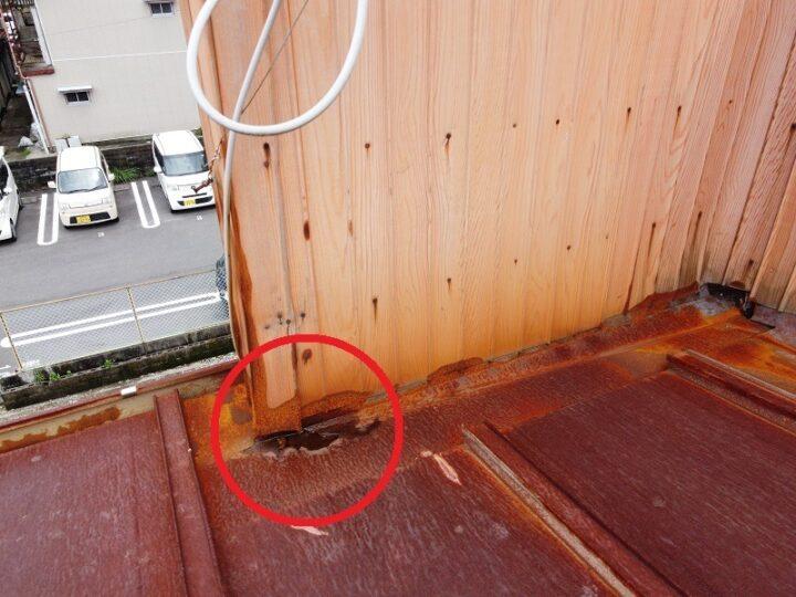 雨漏り調査から雨漏り修理高知市yテナント様