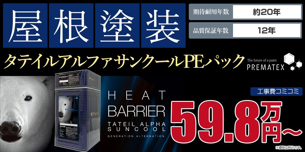 タテイルアルファサンクールPE塗装 59.8万円