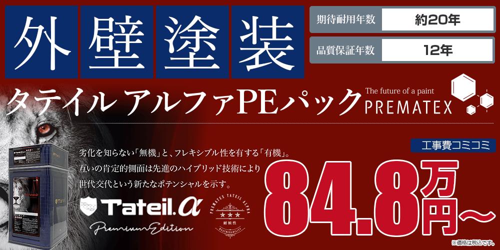 タテイルアルファPEパック塗装 84.8万円